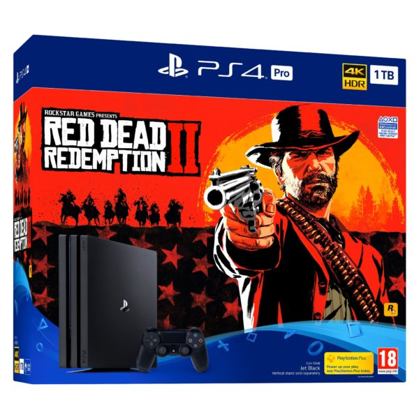 PlayStation 4 PRO 1TB Red Dead Redemption 2